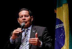 O vice-presidente Hamilton Mourão, durante evento em Porto Alegre Foto: Adnilton Farias/VPR / VPR