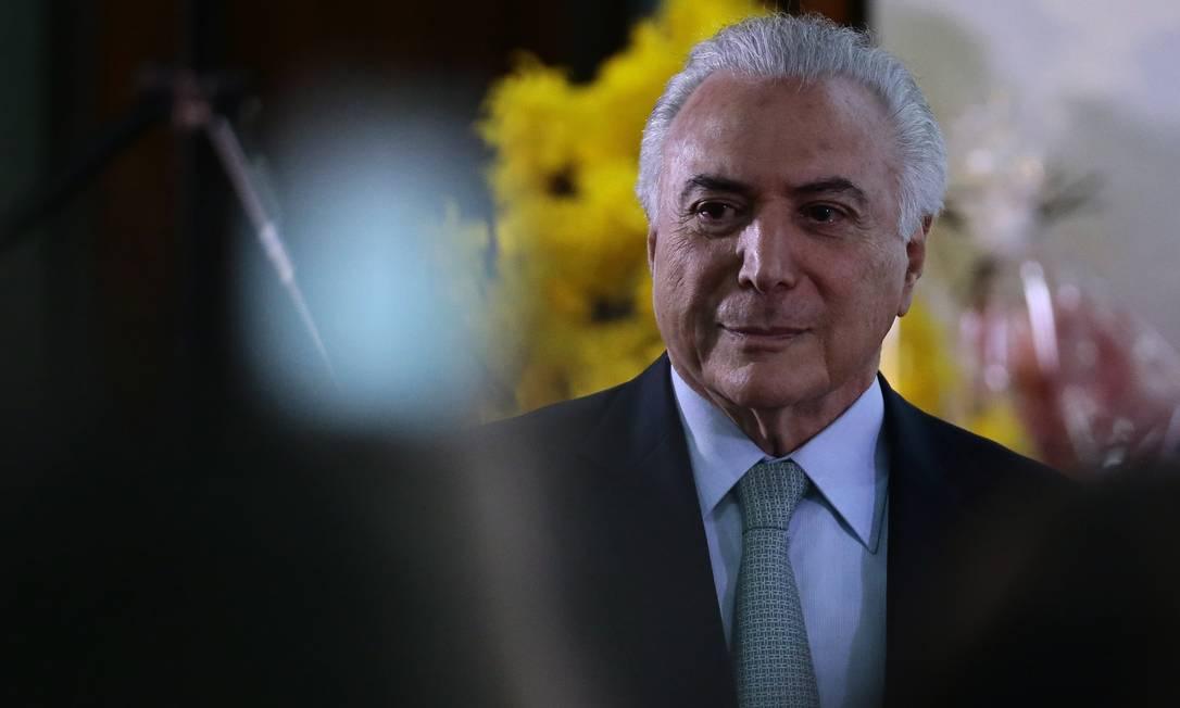 O ex-presidente Michel Temer Foto: Jorge William / Agência O Globo/08-03-2018