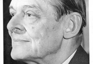 O poeta americano T.S. Eliot Foto: Reprodução