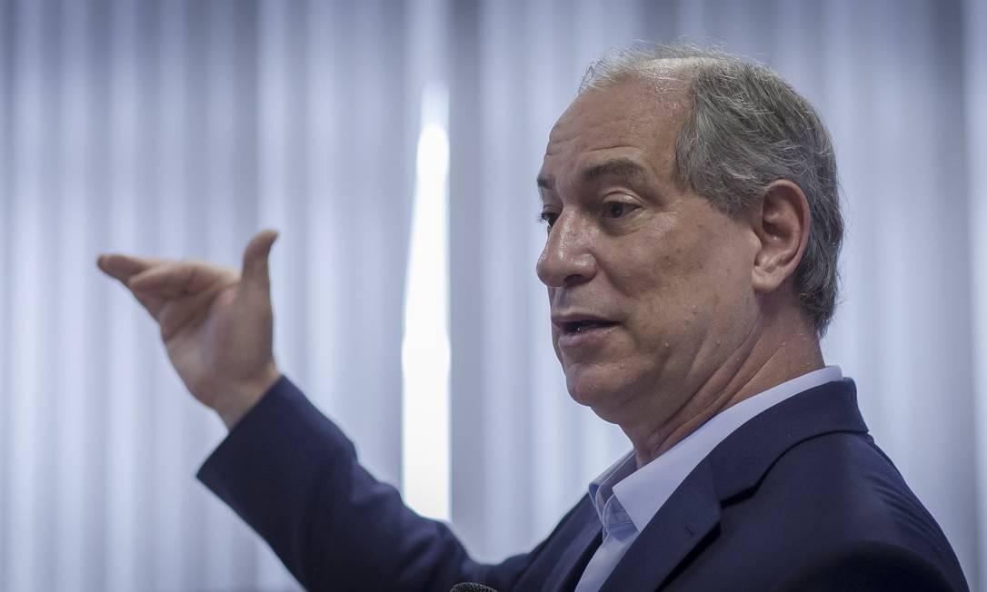 O ex-ministro e candidato derrotado à Presidência da República Ciro Gomes (PDT) Foto: Edilson Dantas / Agência O Globo