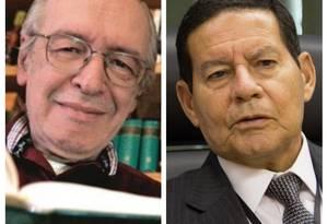 Olavo de Carvalho e o vice-presidente Mourão Foto: Vivi Zanatta / Marco Alves / Folhapress / Agência O Globo