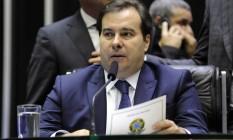 """Maia: """"Quem foi contra a matéria a vida inteira foi Bolsonaro, não fui eu"""". Foto: Luis Macedo / Agência O Globo"""