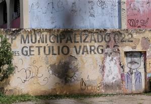 O Ciep em Nova Iguaçu que foi municipalizado e devolvido ao estado Foto: Cléber Júnior/27-9-2018 / Agência O Globo