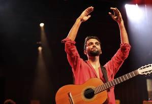 Uma semana depois de cantar no Lollapalooza, Silva se apresenta na primeira noite do evento Foto: Lucas Tavares / Agência O Globo