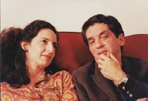 Domingos de Oliveira com Clarice Niskier em cena de
