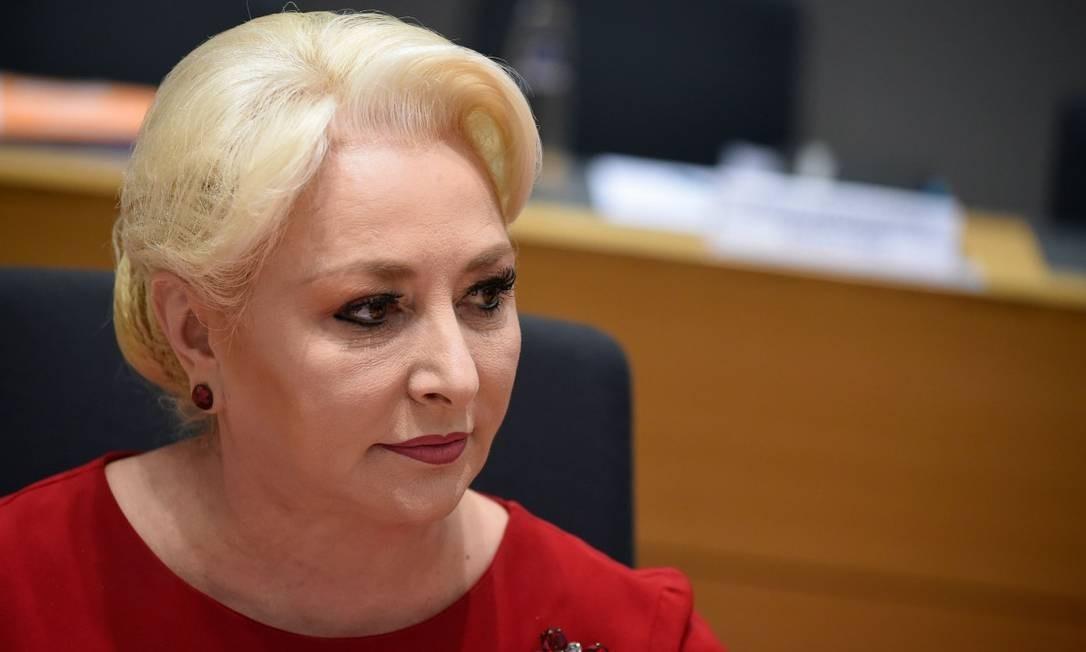 A premier romena, Viorica Dancila: anúncio de transferência de embaixada em Israel contraria posição do presidente da Romênia Foto: JOHN THYS/AFP/20-3-2019
