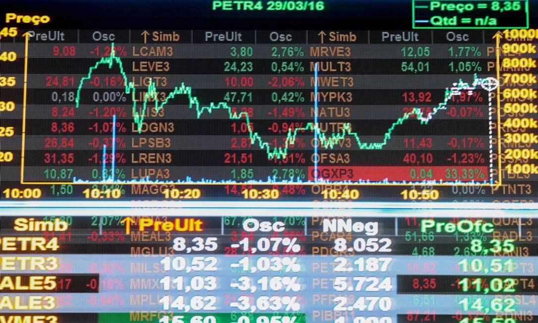 Bolsa de Valores: compra e venda de ações também devem ser informadas na declaração. Foto: Pedro Kirilos / Agência O Globo