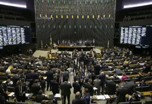 Plenário da Câmara dos Deputados: governo teme que tramitação seja prejudicada pela crise entre Poderes. Foto: Jorge William / Agência O Globo