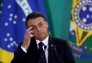 O presidente Jair Bolsonaro no Palácio do Planalto Foto: Agência Brasil