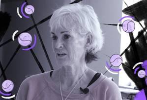 Segundo Judy, no tênis mundial há dificuldade, inclusive, de se formar técnicas Foto: Arte de Lari Arantes sobre foto de Gustavo Loio