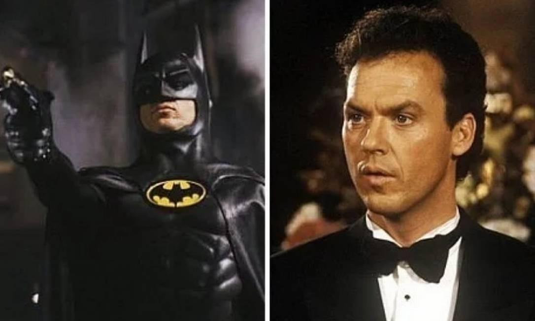 Michael Keaton: 'Batman' (1989) e 'Batman - O Retorno' (1991). Na versão assinada por Tim Burton para o personagem da DC Comics, o responsável por interpretar Bruce Wayne foi Michael Keaton. Atualmente, Keaton é muito lembrado por sua atuação nos longas ao lado de Jack Nicholson - como Coringa no primeiro filme - e de Michelle Pfeiffer - papel de Mulher-Gato, no segundo. Foto: Divulgação