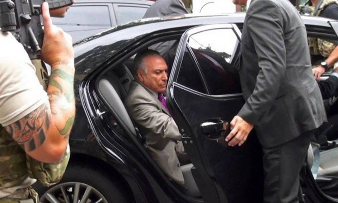 A prisão do ex-presidente Michel Temer foi considerada um excesso Foto: AFP