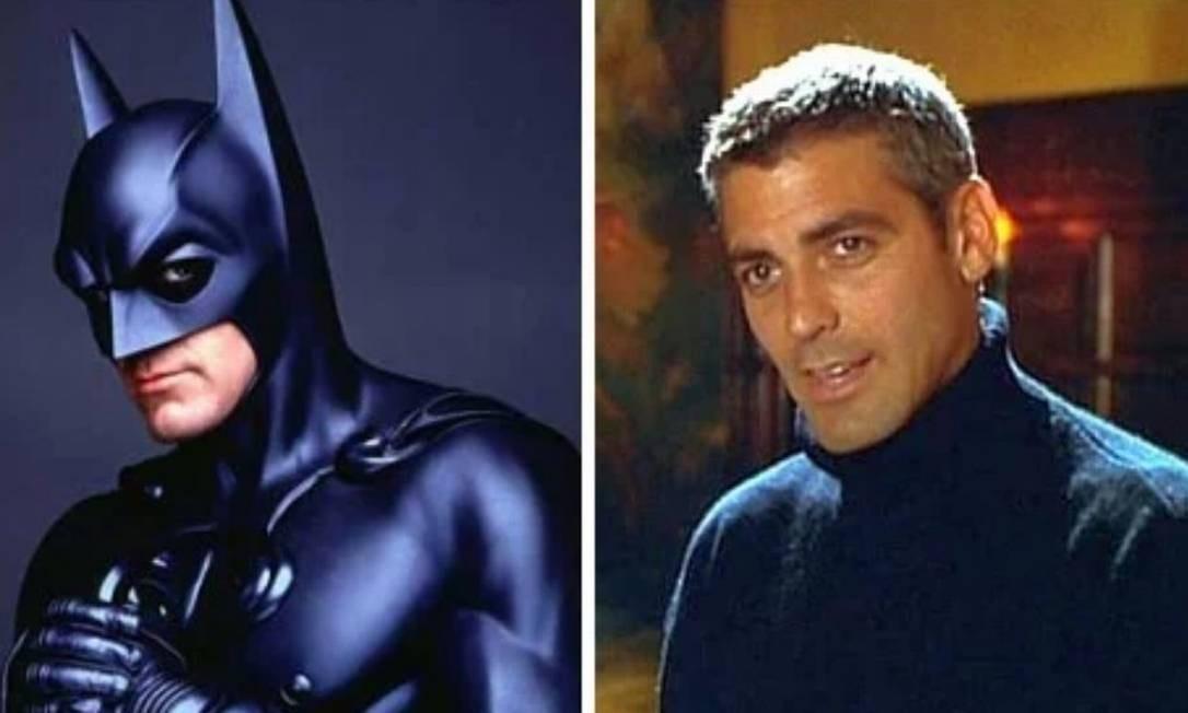 George Clooney: 'Batman & Robin' (1997). A versão protagonizada por Clooney foi, segundo sites especializados, o maior fracasso do personagem, com inúmeras indicações ao Framboesa de Ouro e figurando entre os piores filmes de super-heróis de todos os tempos. Foto: Divulgação