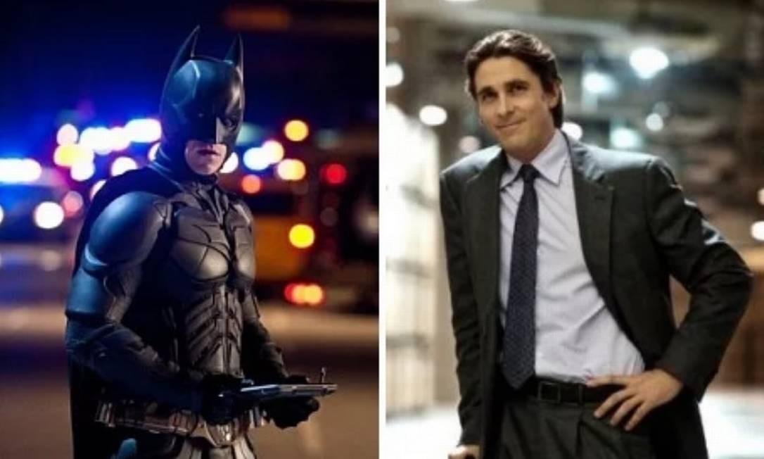 Christian Bale: 'Batman Begins' (2005), 'O Cavaleiro das Trevas' (2008) e 'O Cavaleiro das Trevas Ressurge' (2012). Resgatando o clima sombrio e misterioso, além de fornecer uma certa complexidade e dar mais realismo às histórias, os filmes conquistaram público e críticos. Foto: Divulgação