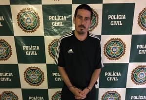 Suspeito foi preso em favela de São Cristóvão Foto: Divulgação/Polícia Civil
