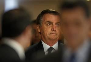 Presidente Jair Bolsonaro Foto: Daniel Marenco / Agência O Globo 25/03/2019