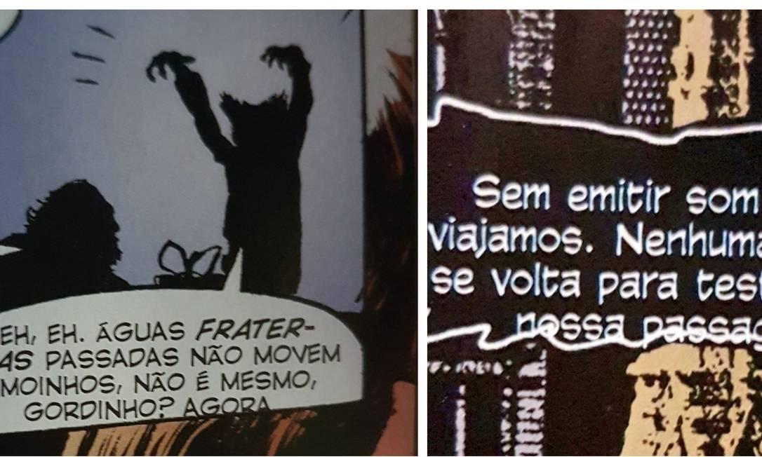 """Trecho da edição especial de """"Sandman"""" com problema de diagramação Foto: Reprodução"""
