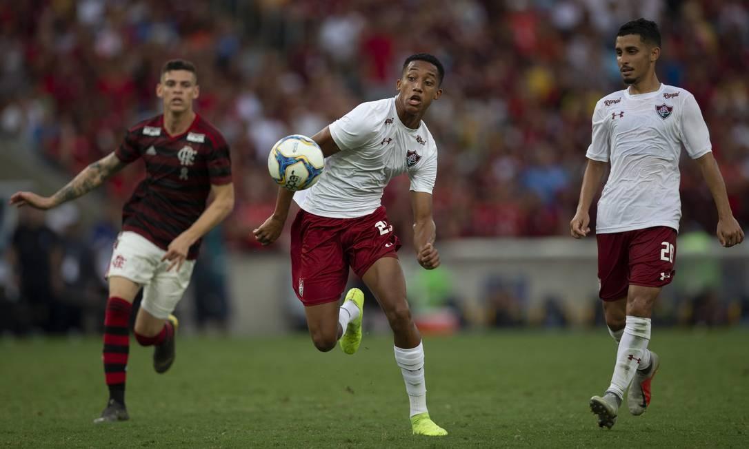 João Pedro marcou seu primeiro gol no Fla-Flu Foto: Alexandre Cassiano / Agência O Globo