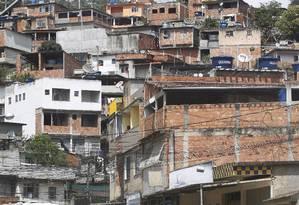 Morro da Covanca, em Jacarepaguá Foto: Marcelo Piu / Agência O Globo - 2013