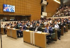 Na Assembleia Legislativa de São Paulo, deputados do PSOL apresentaram proposta para proibir armamentos no plenário Foto: Divulgação/Alesp