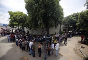 Desempregados fazem fila por uma vaga no Rio. Foto Marcos de Paula / 20-2-2018 Foto: Marcos de Paula / Agência O Globo