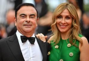 Ghosn e a esposa Carole em Cannes em 2017: vida luxuosa. Foto: LOIC VENANCE / AFP