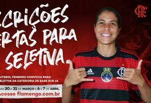 Flamengo abre inscrições para a seletiva Foto: Divulgação