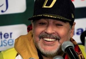 Maradona atualmente trabalha no México Foto: Reprodução