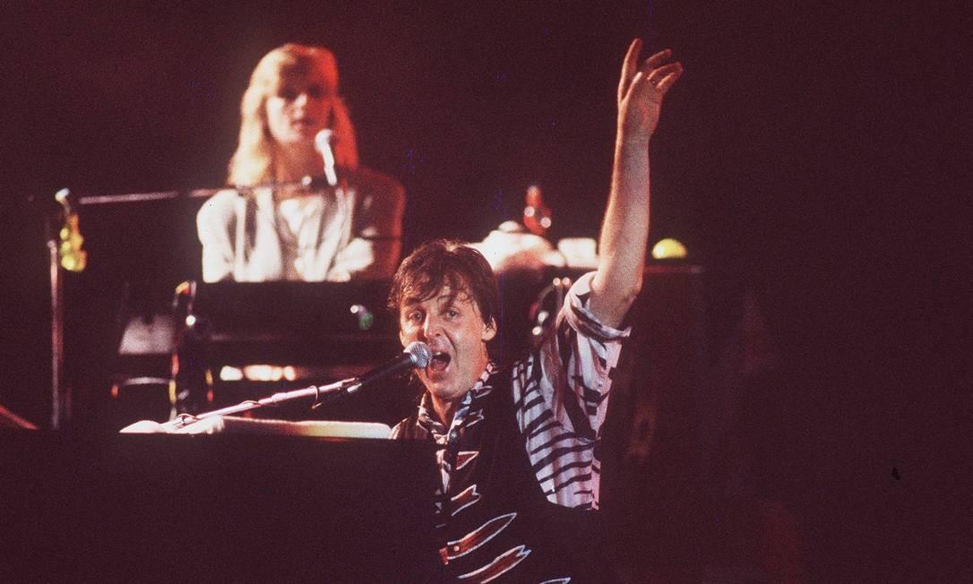 """A """"Paul McCartney World Tour"""" começou em 26 de setembro de 1989, na Noruega. Logo, o empresário Luiz Oscar Niemeyer foi atrás de datas para o Brasil. Foto: Custódio Coimbra / O Globo"""