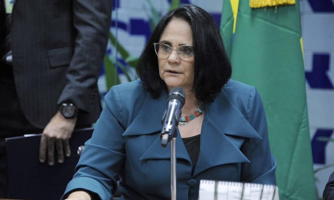 A ministra da Mulher, Família e Direitos Humanos, Damares Alves. Foto: Gilmar Felix / Divulgação Câmara