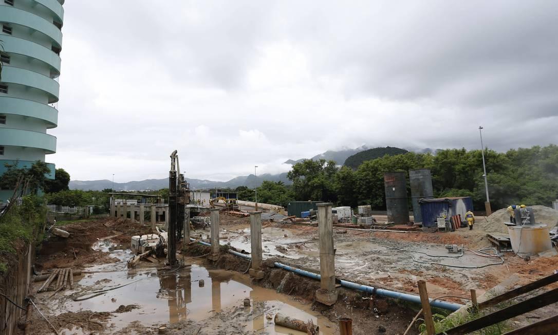 Trecho final da primeira fase das obras, no Grandes Lagos Foto: Roberto Moreyra / Agência O Globo