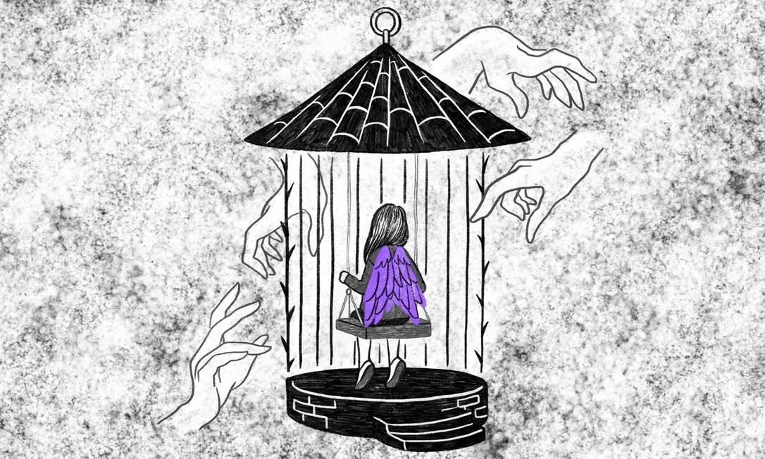 A cada hora quatro meninas com menos de 13 anos são estupradas no Brasil Foto: Ilustração de Lari Arantes