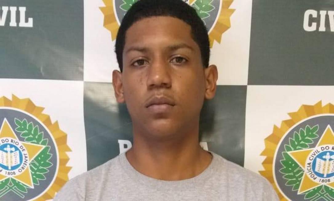 Jorge Luis da Silva Peres, de 19 anos, foi preso em Santa Cruz, naZona Oeste do Rio, acusado de participar do crime Foto: Reprodução / Polícia Civil