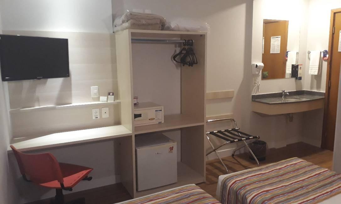 37 apartamentos de um hotel estão em leilão Foto: Divulgação
