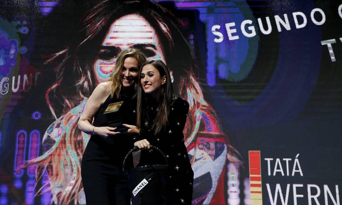 Tatá Werneck recebeu o Prêmio Faz Diferença da categoria Segundo Caderno/+TV da colunista Patrícia Kogut Foto: Pablo Jacob / Agência O Globo