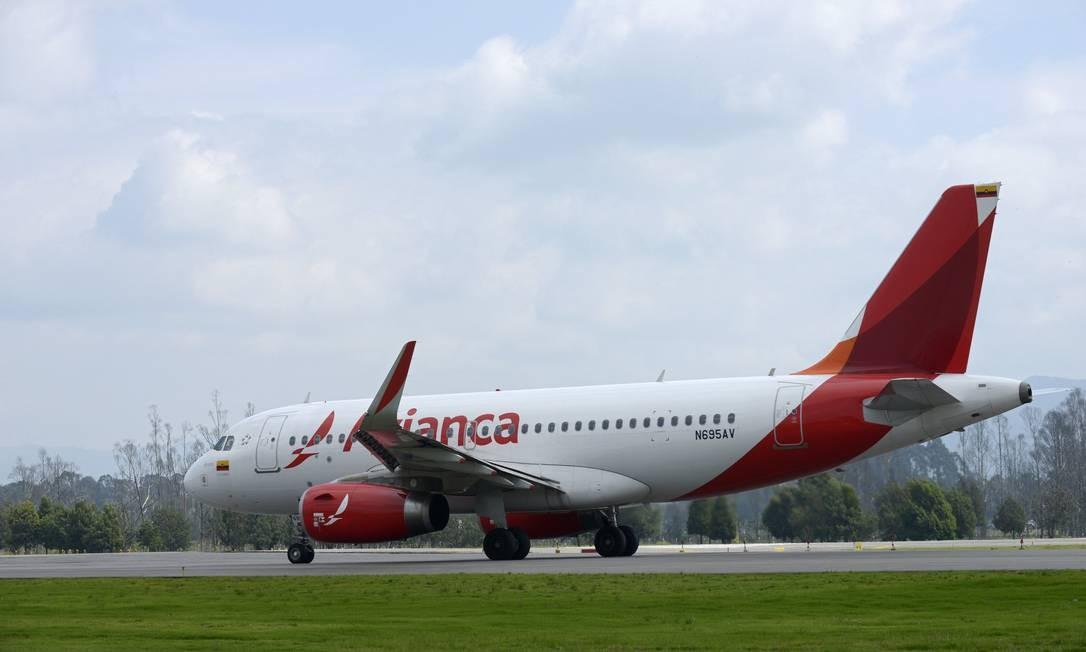 Aeronave da Avianca: Latam demonstra interesse na empresa. Foto: Alejandra Parra / Bloomberg