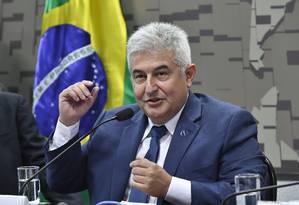 O ministro de Ciência e Tecnologia, Marcos Pontes, durante audiência no Senado Foto: Geraldo Magela/Agência Senado