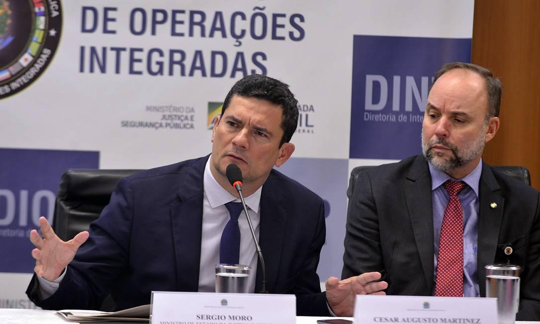 O ministro da Justiça, Sergio Moro, durante entrevista sobre a Operação Luz da Infância Foto: IsaacAmorim/AG.MJ