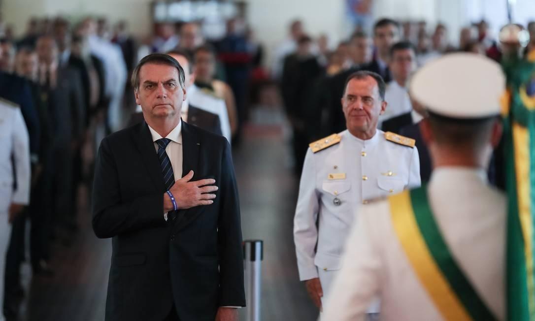 O presidente Jair Bolsonaro durante solenidade comemorativa do 211º Aniversário da Justiça Militar da União Foto: Divulgação/PR