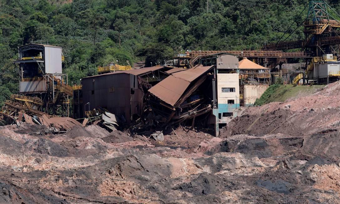 As instalações da Vale em Brumadinho, após o rompimento da barragem de Córrego do Feijão Foto: Washington Alves / Washington Alves/Reuters/10-2-2019