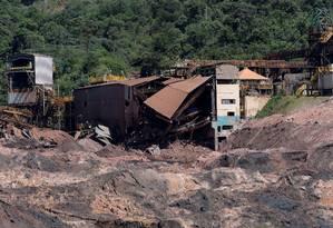 As instalações da Vale em Brumadinho, após o rompimento da barragem de Córrego do Feijão Foto: Washington Alves / Reuters/10-2-2019