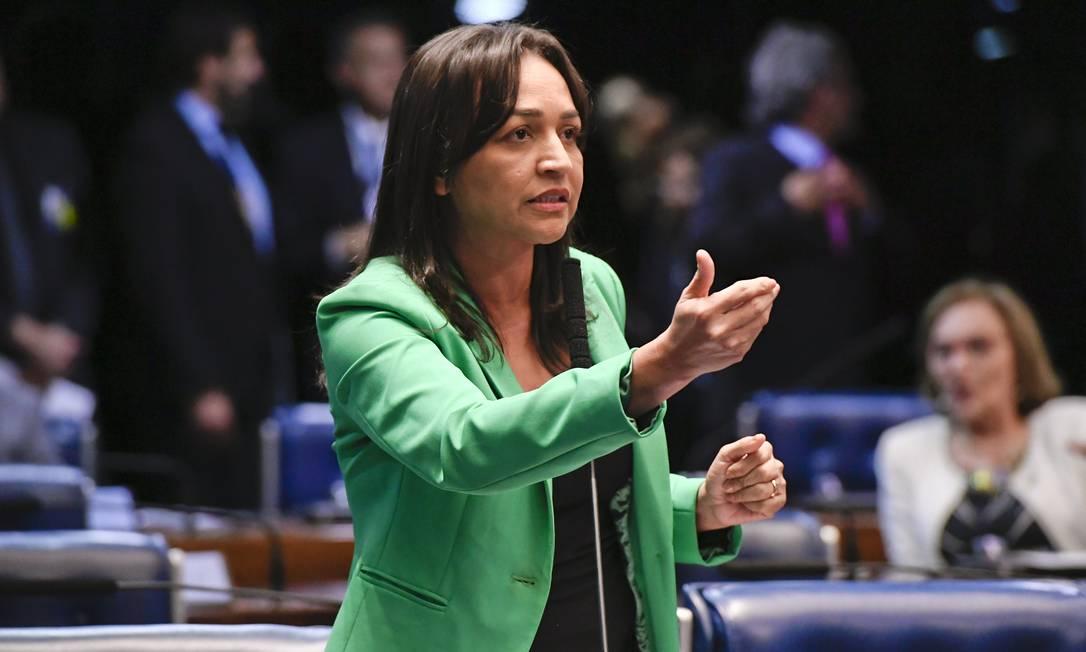 A senadora Eliziane Gama (PPS-MA), no plenário do Senado Foto: Moreira Mariz/Agência Senado/27-03-2019