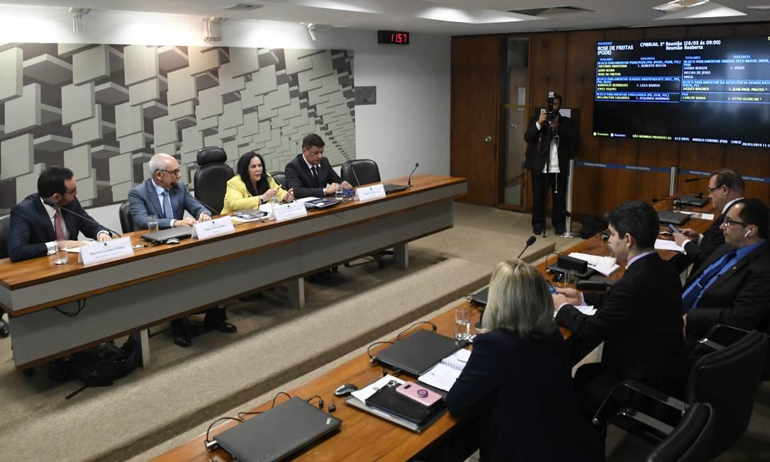 CPI de Brumadinho contou com a presença do ex-presidente da Vale Fabio Schvartsman Foto: Edilson Rodrigues/Agência Senad