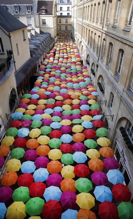 A instalação já passou por locais como Toulouse, Tóquio, Seul e São Petersburgo Foto: Chesnot / Getty Images