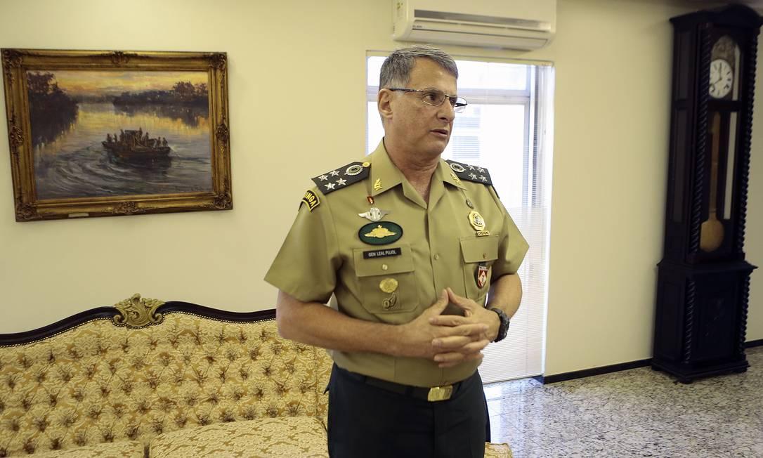 O comandante do Exército, general Edson Leal Pujol 24/07/2018 Foto: Jorge William / Agência O Globo