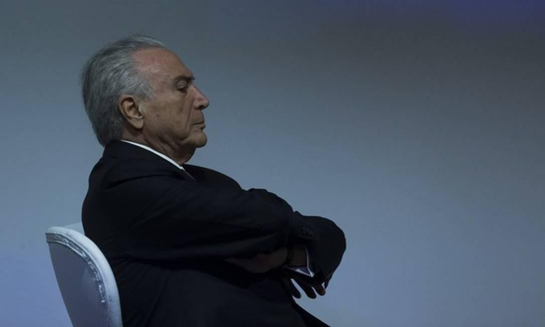 Presidente Michel Temer durante cerimônia em São Paulo Foto: Edilson Dantas/Agência O Globo
