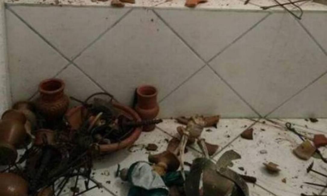 Em 2017, terreiro também foi invadido e depredado Foto: Foto de Arquivo / Divulgação