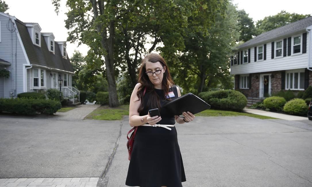 """""""Sou apaixonada pela inteligência artificial e pelas possibilidades que ela nos abre"""", disse Brianna Wu Foto: Boston Globe / Boston Globe via Getty Images"""