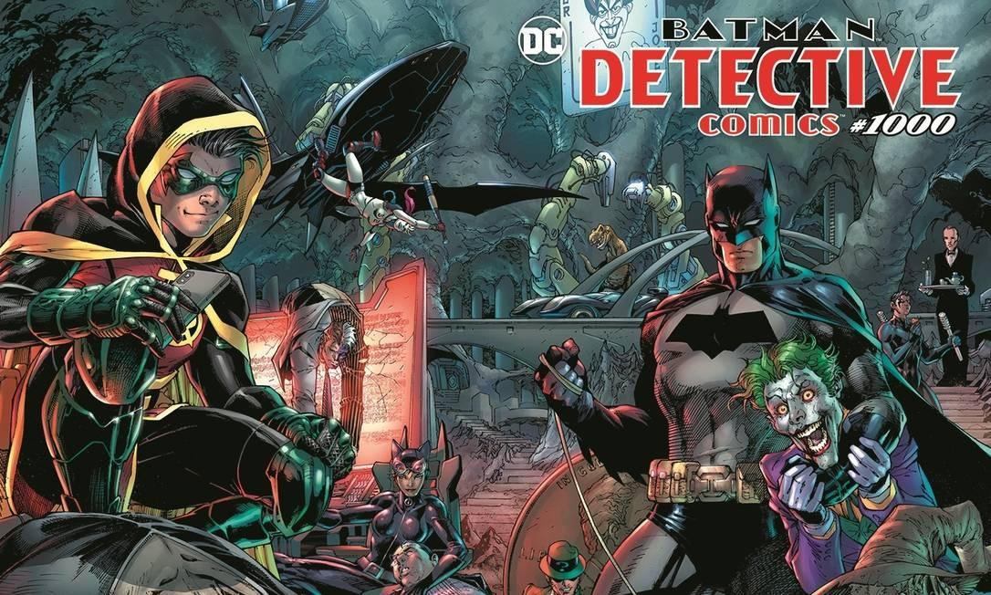 """Detalhe da capa da revista """"Detective Comics"""" número 1000, lançada esta semana nos EUA Foto: Reprodução"""