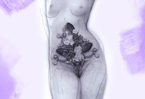 As dores da endometriose Foto: Arte de Alvim sobre ilustração de Silvana Mattievitch